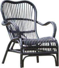 Van der Leeden stoel Bandung - 67 x 80 x 86 cm - rotan - zwart