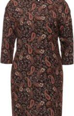 Kleid mit feinem Ornament-Druck Finn Flare chocolate