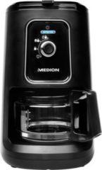 MEDION® Kaffeemaschine mit Mahlwerk MD 17384, 2in1-Funktion, 600 ml Tankvolumen, 900 Watt