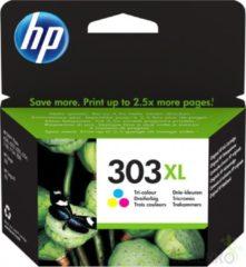 HP 303XL High Yield Tri-color Original 4ml 415pagina's Cyaan, Geel inktcartridge