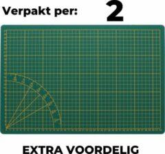 Trend Accessoires Snijmat A3 - VOORDEEL 2 STUKS - Groen - 30 x 45 cm