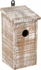 WorldPet Flamingo Nestkastje gavin hout wit/bruin 12x12x24cm
