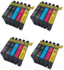 Cyane KATRIZ® huismerk inkt voor Epson 8x T2991XL BK + 4x T2992XL C +4x T2993XL M + 4x T2994XL Y |(20stuks) - Met chip