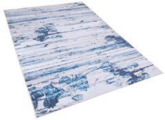Beliani BURDUR Vloerkleed Blauw Polyester 140 x 200 cm