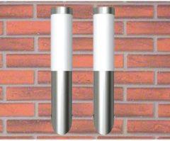 Roestvrijstalen VidaXL - Lantaarn Buitenlamp RVS Enego (2 stuks) 160165