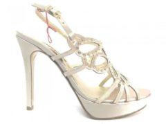 J474 ARGENTO Scarpa donna Melluso sandalo elegante tacco made in italy, 36