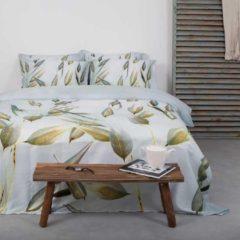 Groene Venice Dekbedovertrek Cynthia Wit Lits-jumeaux dekbedovertrek 240 x 200/220 cm + 2 slopen