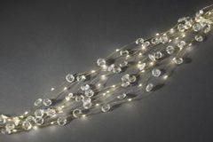 Witte Konstsmide 6390 - Snoerverlichting - 90 lamps LED Cascade zilver 10 strengen diamant - 90 cm - 24V - voor binnen - warmwit
