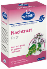 Wapiti Nachtrust Forte - 40 Tabletten - Voedingssupplement