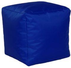 Sitzwürfel Hocker Sitzkissen Nylon kobalt 40x40x40 cm Linke Licardo Kobalt