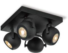 Home sweet home LED opbouwspot Nop 4 lichts ↔ 23 cm - zwart