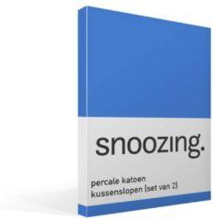 Snoozing Percale Katoen Kussenslopen (Set Van 2) - 100% Percale Katoen - 60x70 Cm - Standaardmaat - Meermin