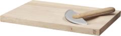 Herbs kruidenhakker met snijplank lichtgrijs