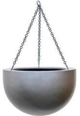 Grijze Plantenwinkel.nl Gradient hanging bowl matt grey L