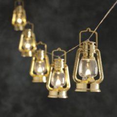 Gouden Warmweiß leuchtende LED-Lichterkette Sturmlaternen