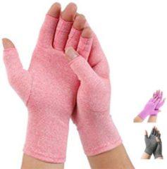 Pro-orthic Therapeutische Reuma Artritis Compressie Handschoenen voor Pijnverlichting, Ondersteuning & Verbetering van de Bloedsomloop | Roze Large