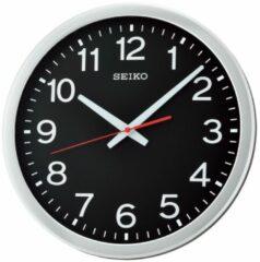 Witte Seiko Clocks Seiko QXA732S Wandklok zwarte wijzerplaat 35 cm