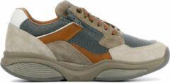 Taupe Xsensible Stretchwalker Mannen Leren Sneakers - 30088.1 - 40