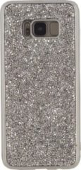 Zilveren Xccess TPU Case Samsung Galaxy S8+ Metallic Edge with Glitter Stones Silver