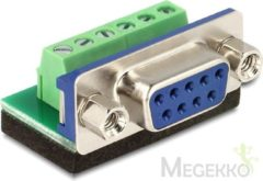 DeLOCK Adapter Sub-D 9 pin female > Terminal block 6 pin (65498)