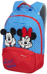 Blauwe Samsonite Kinderrugzak - Disney Ultimate 2.0 Backpack S+ Disney Stripes Minnie/Mickey Stripes