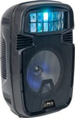 Zwarte Party light & sound LED Verlichte Speaker met Derby Lichteffect