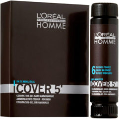 Bruine L'Oreal Professionnel Loreal Professionnel - Homme Cover 5 Gel Hair Color For Men 3 x 5 Light Brown