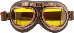 CRG Vintage pilotenbril geel glas