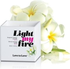 Love to Love Light My Fire Luscious Massagekaars - Gardenia