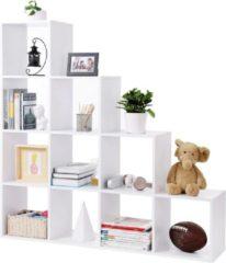 Witte Nancy's Boekenkast - 10 Vakken - 129,5CM Archiefkast - Kast - Kasten