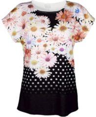 T-Shirt Alba Moda schwarz/bunt