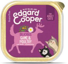 Edgard & Cooper Wild & Gevogelte Kuipje - Voor volwassen katten - Kattenvoer - 85g