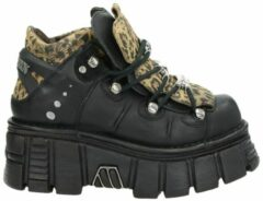 Zwarte New Rock Tower Black dad sneakers