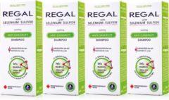 Rosa Impex 4 x REGAL KALMERENDE ANTI-ROOS Shampoo met Selenium Sulfide voor Elk Haartype Set4 800ml