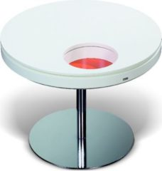 Esprit Tisch rund 65 cm weiss/ orange lackiert Esprit Home Neo