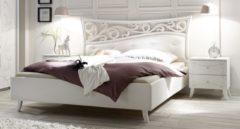 Pesaro Mobilia Tweepersoonsbed Soler 160x200cm in mat wit