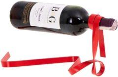 Rode ZWC Magische wijn fleshouder ribbon