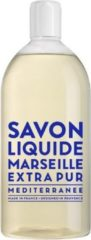 Compagnie de Provence Savon de Marseille vloeibare handzeep Extra Pur Méditerranée 1 liter navulling