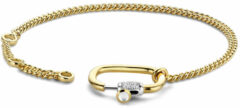 Ti Sento Milano TI SENTO-Milano 2962SY Armband Statement Slot zilver-zirconia goudkleurig 16-20 cm