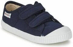 Blauwe Sneakers Basket lona Dos Velcos by Victoria