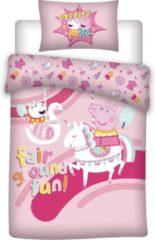Peppa Pig Unicorn Dekbedovertrek - Eenpersoons - 140 X 200 Cm - Roze