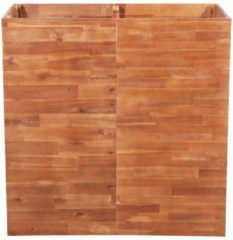 Bruine VidaXL Plantenbak 100x50x100 cm acaciahout