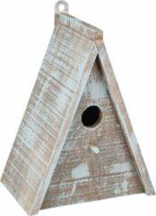 WorldPet Flamingo Nestkastje gies hout blauw/bruin 16,5x11x21cm
