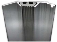 Liniaal Aristo 50cm aluminium met rubber inleg