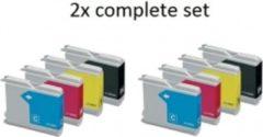 Gele Goedkoopprinten ACTIE: Brother LC-1000 Multipack inkt cartridges (set 8x) - Huismerk
