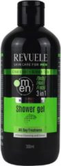 Revuele Charcoal & groen Tea 2 in 1 Shampoo for Men 300ml.