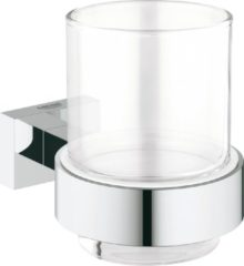 Grohe Essentials Cube glashouder, messing, chroom, (hxd) 95x107mm oppervlaktebescherming