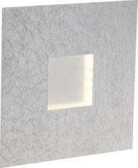 Brilliant Pyramid LED Wandleuchte silber/weiß