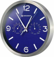 Donkerblauwe Bresser Wandklok - Mytime Aluminium - Blauw - Ø25 CM