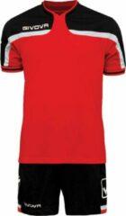 Tenue Givova Kit America KITC47, maat XL, rood/zwart
